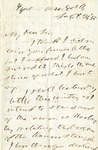 Letter from Horace Greeley to William Henry Linow Barnes, September 21, 1855 by Horace Greeley