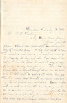 Letter from Jason Brown to Franklin Benjamin Sanborn, August 18, 1886 by Jason Brown