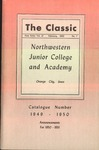The Classic, Winter 1950 by Northwestern Junior College and Classical Academy