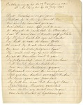 Poem by Frank LeCocq, Jr., July 14, 1907 by Frank LeCocq Jr