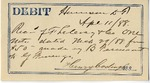 Debit Note from B Terwaat to JF LeCocq, April 11, 1888