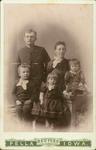John and Hendrika (Henrietta Hospers) Klein, children Tuenis, Kittie, Gertrude by Hospers Family