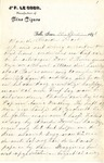 Letter from Jan LeCocq to Frank LeCocq, Sr., April 10, 1896
