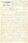 Letter from Jan LeCocq to Frank LeCocq, Sr., September 6, 1896 by Jan LeCocq