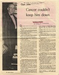 "Article ""Opa John, Cancer couldn't keep him down"", December 1971 by Marjorie McQuillan and Seattle Times"
