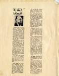 Obituary of Dr. John F. LeCocq, 1966 by Unknown Newspaper