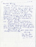 Letter from Mrs. Ken Eben to Mrs. Kennedy, April 11, 1991
