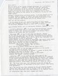 Letter from Anton and Liek Tjeenk Willink to Sandra Eben, February 9, 1991 by Anton Tjeenk Willink and Liek Tjeenk Willink - de Jonge