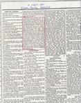 Newspaper excerpt, wedding of Frank Jr. and Rhoda Brinks, August 9, 1883
