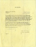 Letter from Ralph B. LeCocq to Sexton of the Cleveland, OR Cemetery, October 13, 1950