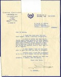 Letter from R. Omnozez to Ralph B. LeCocq, January 12, 1954 by R Omnozez