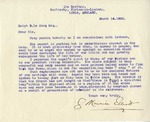 Letter from J.M. Elliott to R.B. LeCocq, March 14, 1922 by J. Maurice Elliott