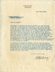 Letter of Resignation, July 28, 1937 by Ralph B. LeCocq
