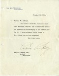 Letter from President Coolidge to R.B. LeCocq, November 13, 1924 by Calvin Coolidge