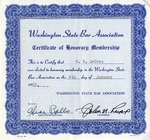 Certificate of Honorary Membership, January 6,1967