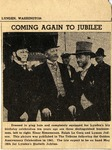 "Newspaper photo ""Coming Again to Jubilee"", 1951 by Newspaper"