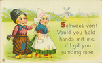 Dutch / English Language Postcard
