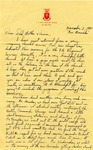 Letter from Fort Sill, Oklahoma, November 2, 1941