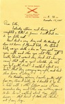 Letter from Fort Sill, Oklahoma, November 15, 1941