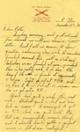 Letter from Fort Sill, Oklahoma, November 23, 1941