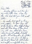 Letter from Camp Bowie, Texas,  March 1, 1942