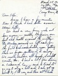 Letter from Camp Bowie, Texas, March 28, 1942