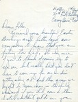 Letter from  Camp Bowie, Texas, April 1942