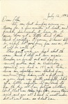 Letter from Camp Bowie, Texas, July 12, 1942