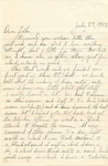 Letter from Fort Still, Oklahoma, July 27, 1942