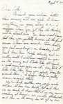 Letter from Fort Still, Oklahoma, August 8, 1942
