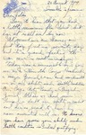 Letter from Somewhere in France, August 20, 1944