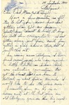 Letter from Belgium, September 14, 1944