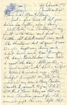 Letter from undisclosed location, December 25, 1944