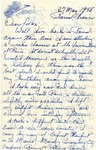 Letter from Paris, France, May 27, 1945
