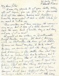 Letter from Marseille, France, July 26, 1945