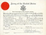 Certificate from the Army of the United States, June 1, 1942