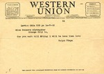Western Union Telegram, October 7, 1942 by Ralph Mouw