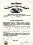 Certificate Appointing Ralph Mouw Captain, September 29, 1944