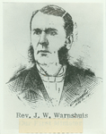 Reverend John William (J.W.) Warnshuis, Northwestern Classical Academy, 1883