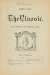 The Classic, March 1903 by Greta Northwestern Classical Academy