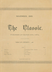 The Classic, November 1900 by Northwestern Classical Academy