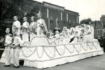 Queen's Float in Front of Hawkeye Hotel
