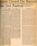 Newspaper Article, Orange City Tulip Festival