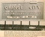Tulip Time Sign