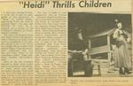 Newspaper Article, Heidi, 1962