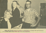 Newspaper Article, Students and Recording Equipment