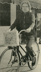 Newspaper Article, Professor England on Bicycle