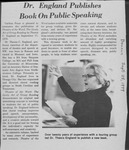 The Beacon, Dr. England Publishes Book on Public Speaking, 1979