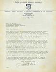 Letter Granting Delta Psi Omega Charter, 1951
