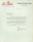 Letter from Concordia Teachers College, 1962